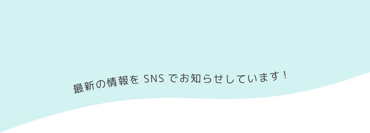 最新の情報をSNSでお知らせしています!